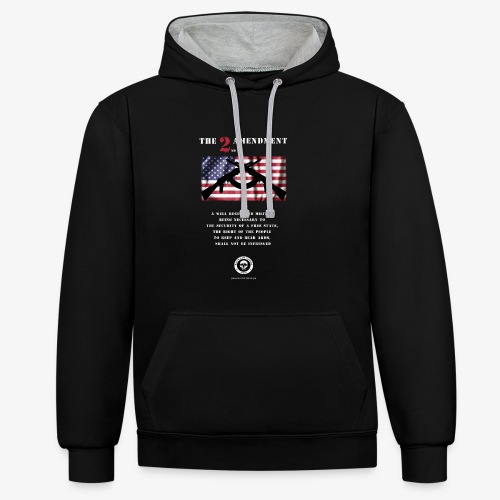 2nd Amendment - Kontrast-Hoodie