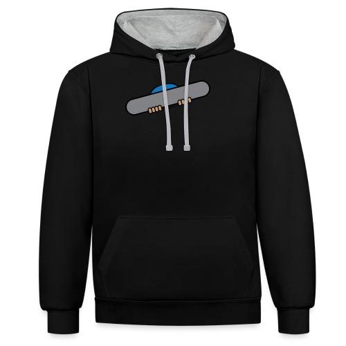 Snowboarder plain - Contrast Colour Hoodie