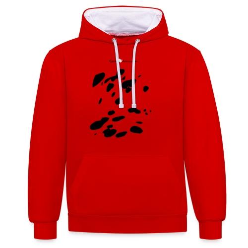 Coperta Appaloosa (nero/rosso) - Felpa con cappuccio bicromatica