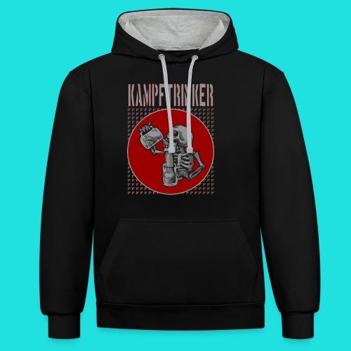 Kampftrinker - Kontrast-Hoodie
