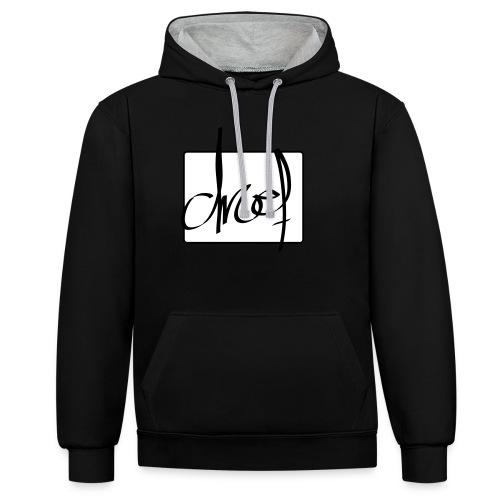 Droef.Gent logo zwart - Contrast hoodie