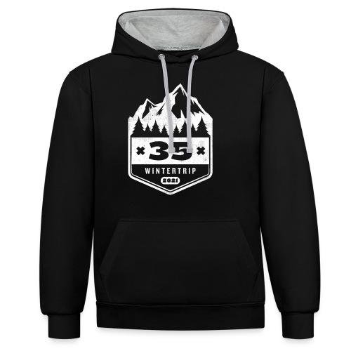 35 ✕ WINTERTRIP ✕ 2021 - Contrast hoodie