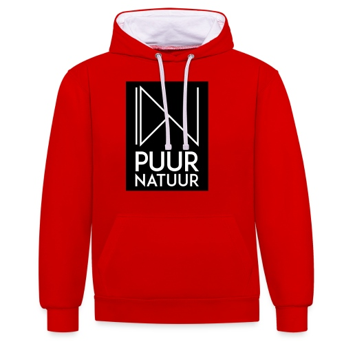 Logo puur natuur negatief - Contrast hoodie