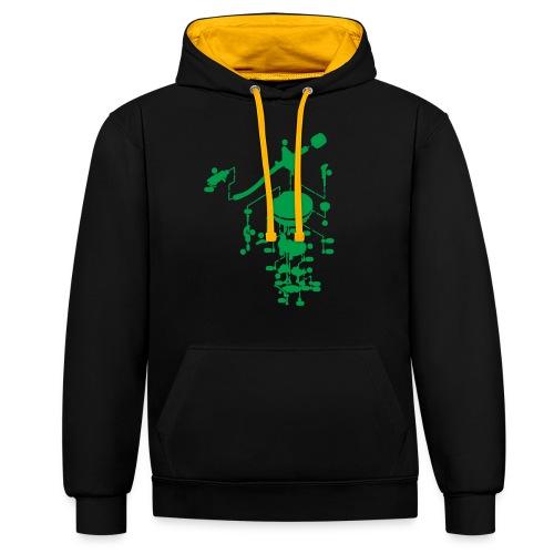 tonearm05 - Contrast hoodie