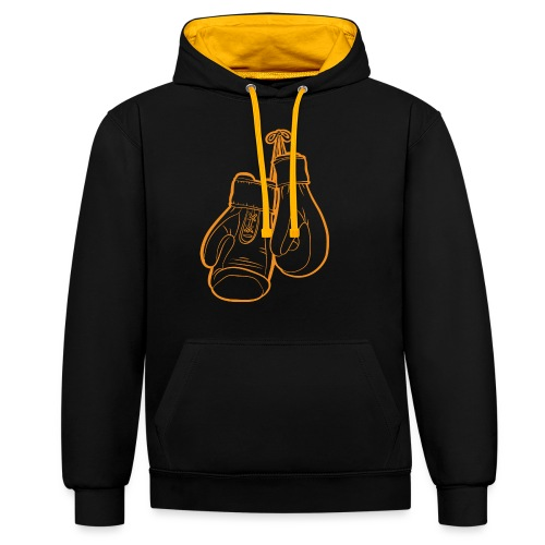 Boxhandschuhe Orange - Kontrast-Hoodie
