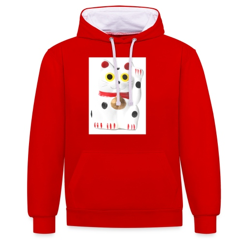 luckycat - Contrast Colour Hoodie