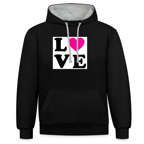 Love t-shirt - Sweat-shirt contraste