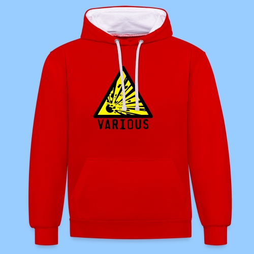 VariousExplosions Triangle (2 colour) - Contrast Colour Hoodie
