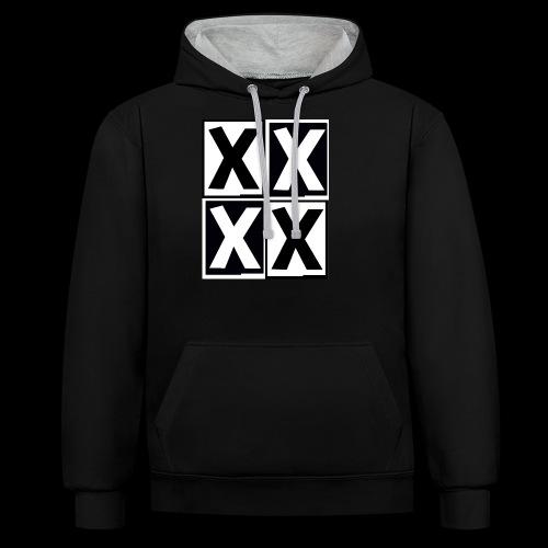 inside x - Kontrast-Hoodie
