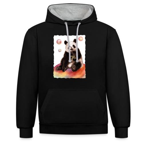 Panda World - Felpa con cappuccio bicromatica