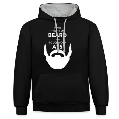 Beard - Kontrast-Hoodie