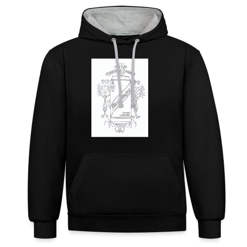 Red Stripe - Contrast Colour Hoodie