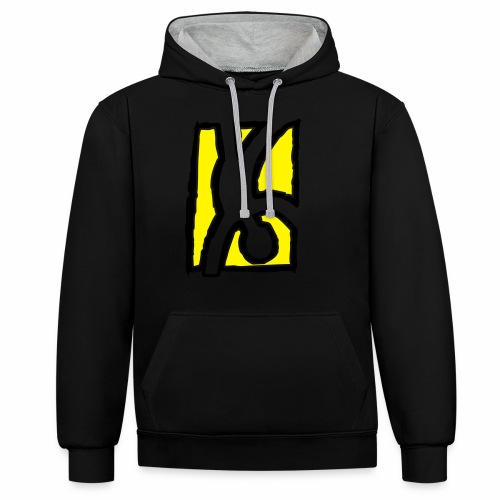 Capoeira: Hand stand - Contrast Colour Hoodie