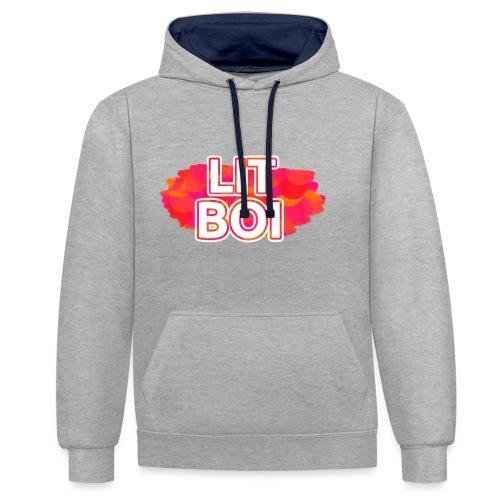 LIT BOI - Contrast Colour Hoodie