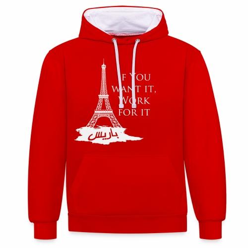 Paris dream work - Sweat-shirt contraste