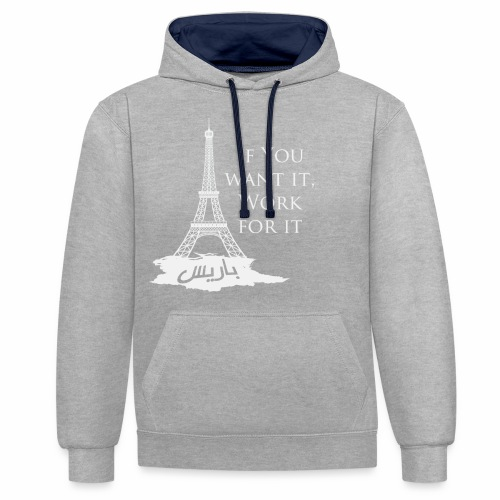 Paris dream work - Sweat-shirt contraste