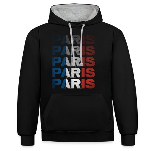 Paris, France - Contrast Colour Hoodie