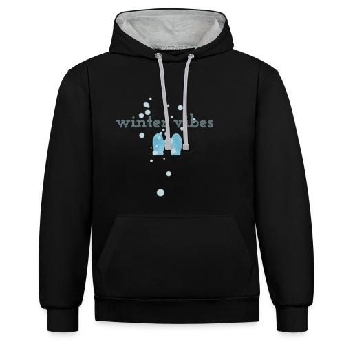 winter vibes - Sweat-shirt contraste