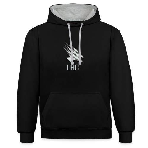 LHC Light logo - Contrast Colour Hoodie