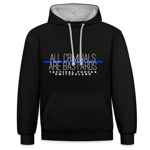 All Criminals Are Bastards - Sweat-shirt contraste