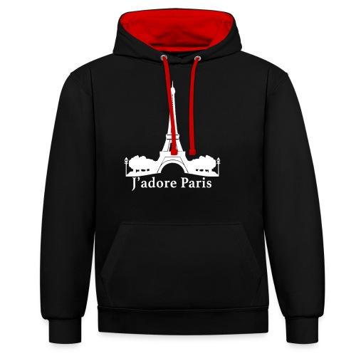 Design j'adore paris ma ville - Sweat-shirt contraste