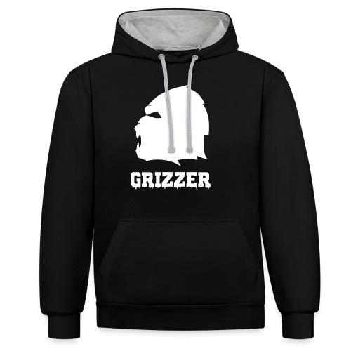GRIZZER BLANC - Sweat-shirt contraste
