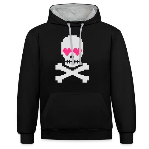 Skull Love - Contrast hoodie