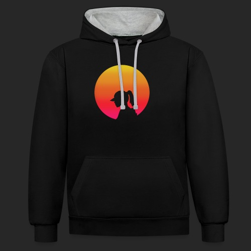 Gradient Girl - Contrast Colour Hoodie