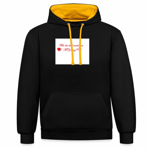 LoveYourselfTheMost - Contrast Colour Hoodie