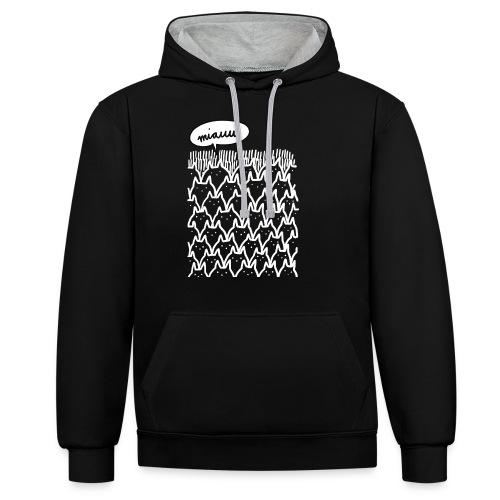 Miauw - Contrast hoodie