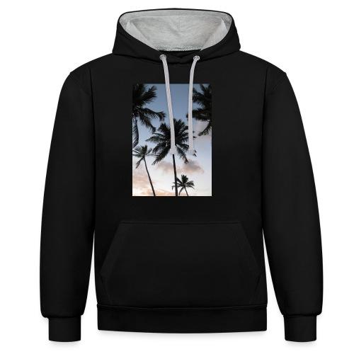 PALMTREES DOMINICAN REP. - Contrast hoodie