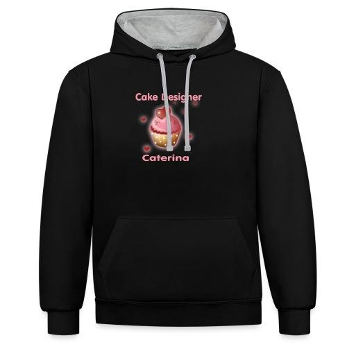 cupcakke - Felpa con cappuccio bicromatica