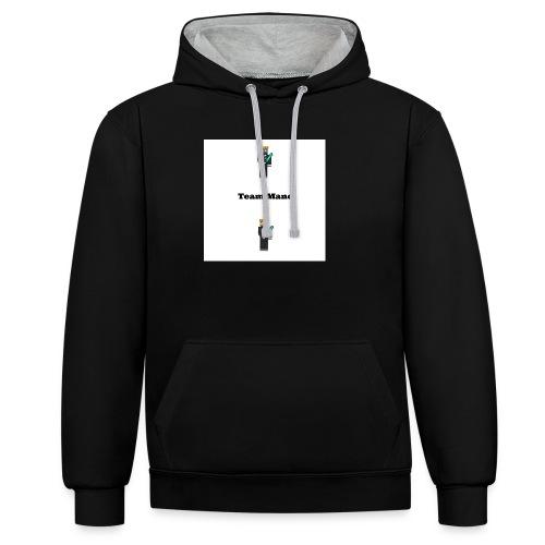 TeamMano shirt - Contrast Colour Hoodie