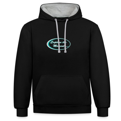 Logo capture the moment photography slogan - Contrast Colour Hoodie