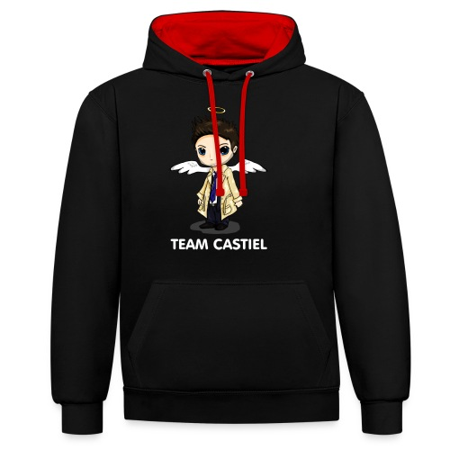 Team Castiel (dark) - Contrast Colour Hoodie