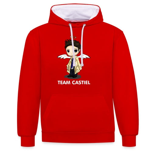 Team Castiel (dark) - Contrast Colour Hoodie