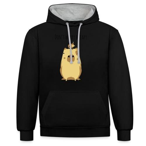Wasserschwein Spruch - Kontrast-Hoodie