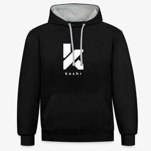 Koshr Official Logo - - Contrast Colour Hoodie