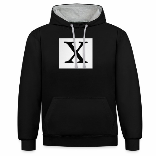 THE X - Contrast Colour Hoodie