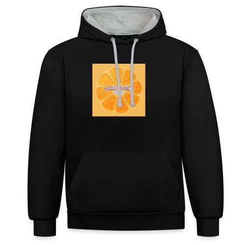 orangetextur - Kontrast-Hoodie
