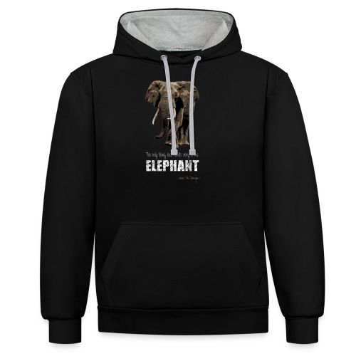elephants need ivory - Contrast Colour Hoodie