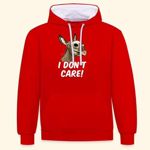 Ane I don't care! (texte blanc) - Sweat-shirt contraste