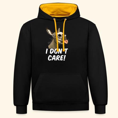 Ane I don't care! (texte blanc) - Sweat-shirt contraste