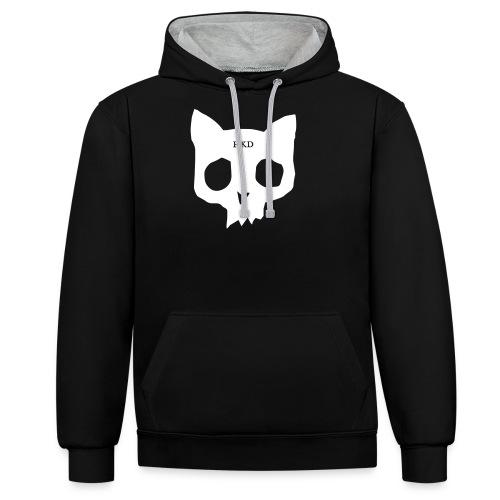 Car skull - Contrast Colour Hoodie