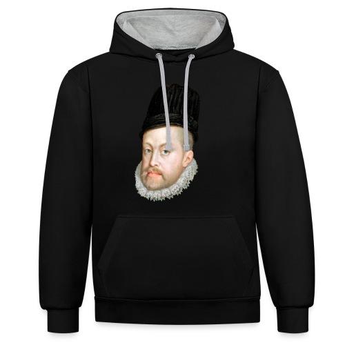 Felipe II de España - Sudadera con capucha en contraste