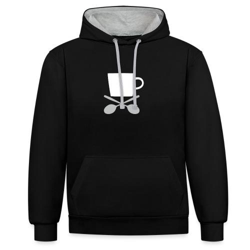 Coffee till I die - Contrast Colour Hoodie