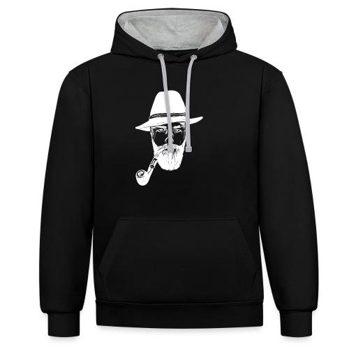 Bergbauer das Original, black, groß - Kontrast-Hoodie