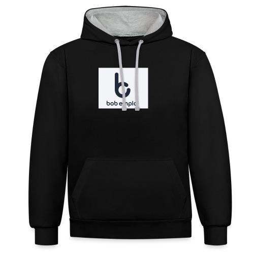 Logo_Bob_Emploi - Sweat-shirt contraste