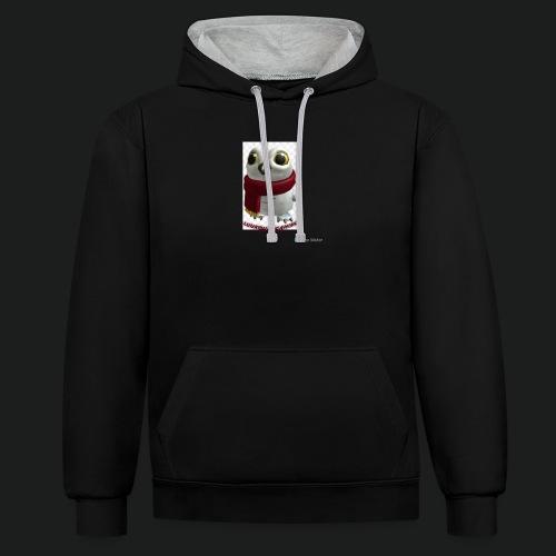 Merch white snow owl - Contrast hoodie
