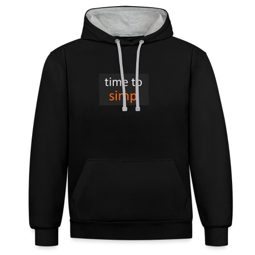 simping time - Contrast hoodie